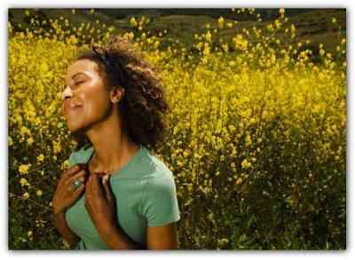 christian meditation happy woman