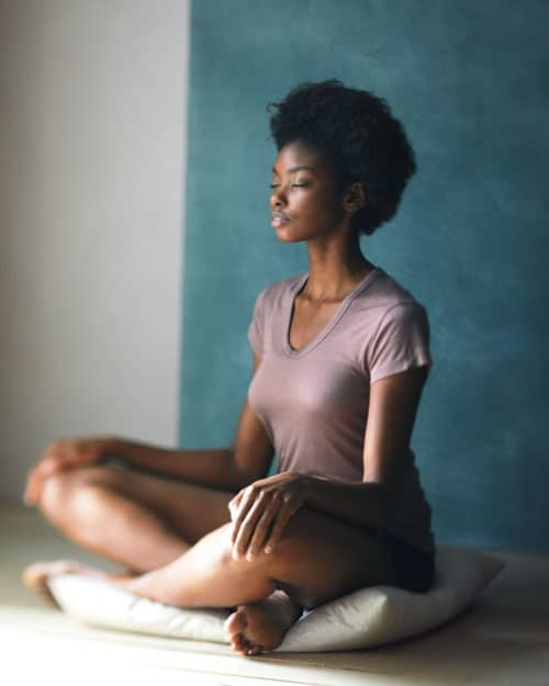 blackwoman meditating