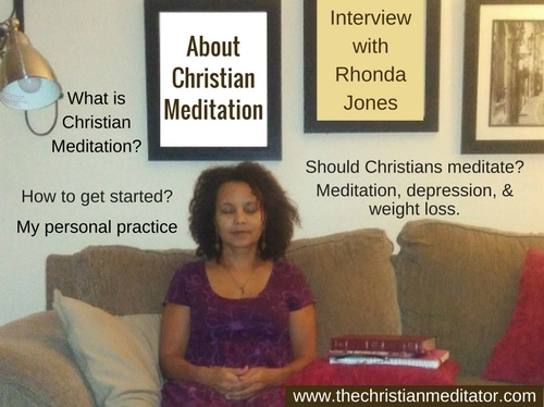Christian Meditation Radio Interview with Rhonda Jones, the christian meditator
