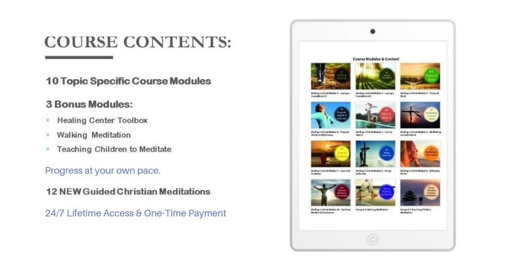 christian meditation course content