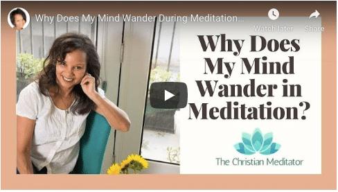 Mind wander during meditation