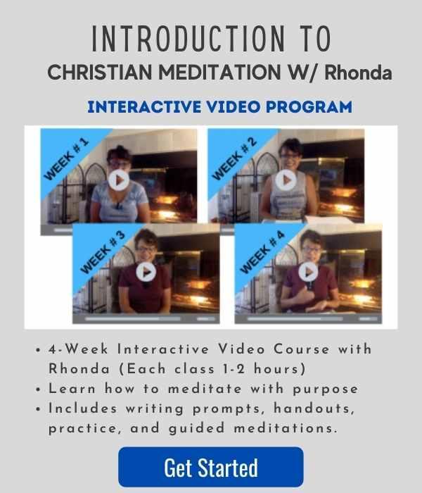 INTRODUCTION WITH CHRISTIAN MEDITATION WITH RHONDA JONES